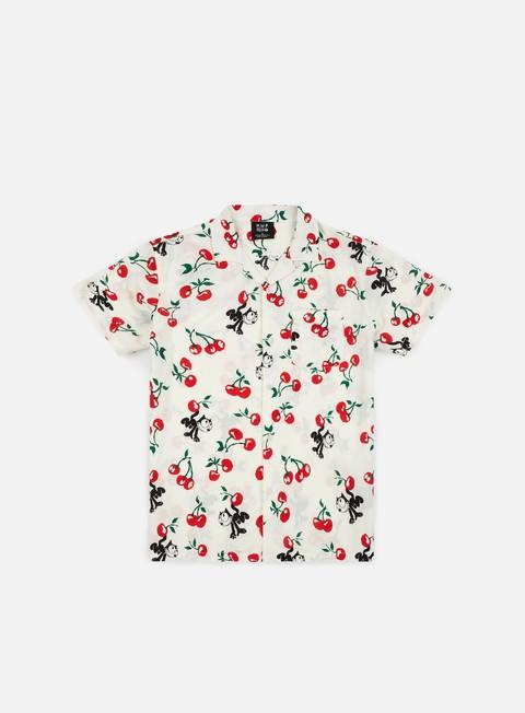 Outlet e Saldi Camicie a Manica Corta Huf Felix Cherry Woven SS Shirt