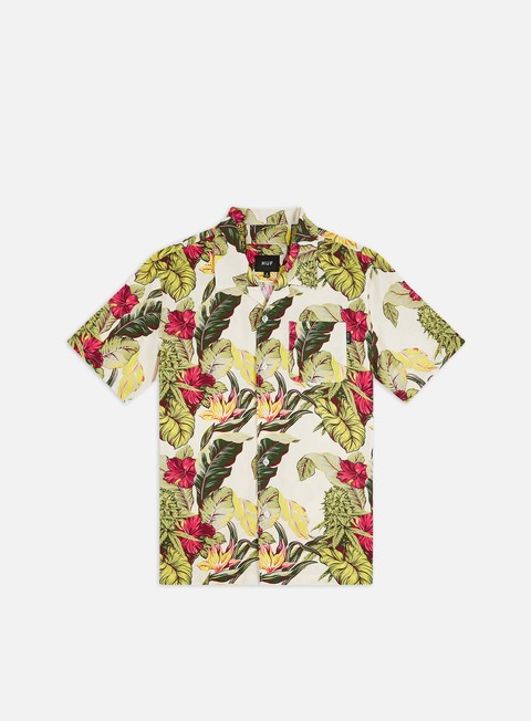 Short Sleeve Shirts Huf Paraiso Resort Woven SS Shirt