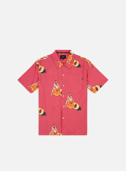 Sale Outlet Short Sleeve Shirts Huf Peachy Woven SS Shirt