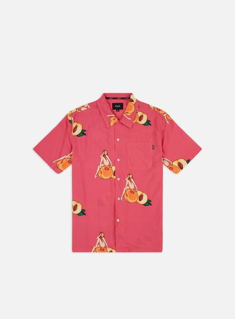 Outlet e Saldi Camicie a Manica Corta Huf Peachy Woven SS Shirt