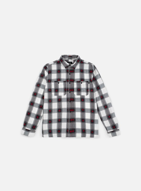 camicie huf plantlife plaid ls shirt black