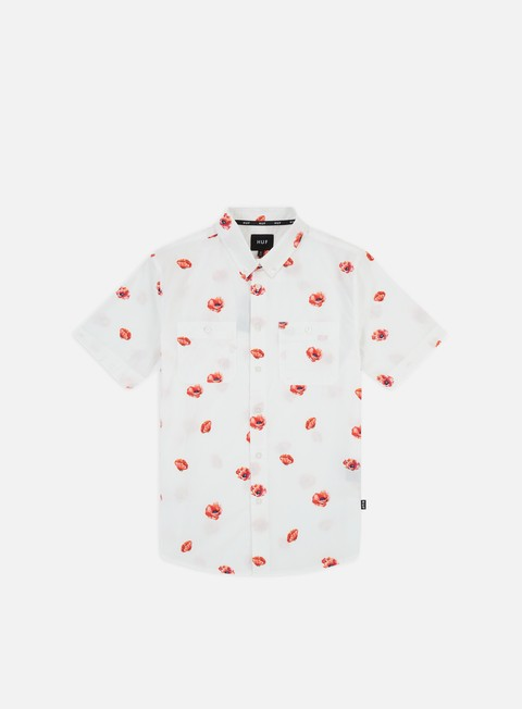 Sale Outlet Short Sleeve Shirts Huf Poppy Woven SS Shirt