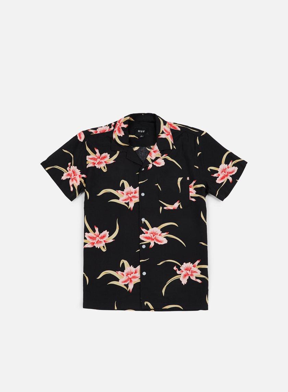 Huf - Rakuen SS Shirt Black - Shirts Short Sleeve