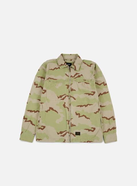 camicie huf reine bdu ls shirt desert camo