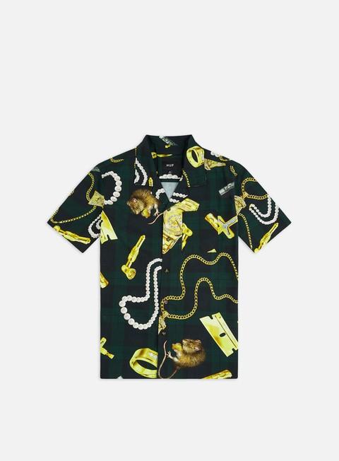 Outlet e Saldi Camicie a Manica Corta Huf Tenderloin Woven SS Shirt