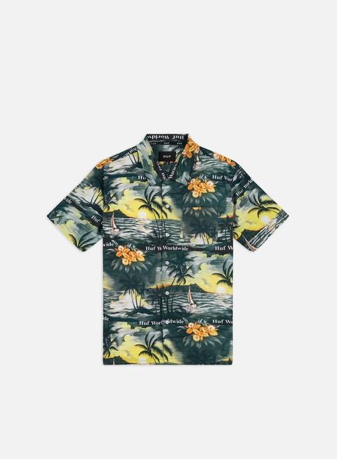 Outlet e Saldi Camicie a Manica Corta Huf Venice Woven SS Shirt