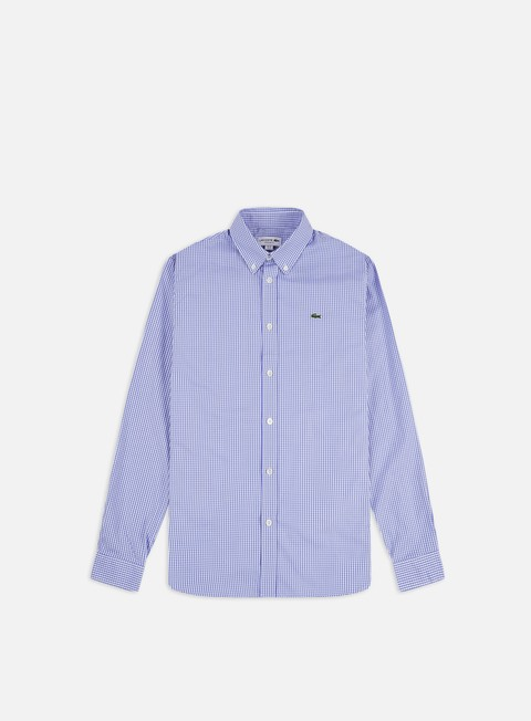 Camicie a Manica Lunga Lacoste Cotton Check Regular LS Shirt
