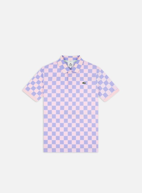 Polo Lacoste Live Checkered Ribbed Collar Polo Shirt