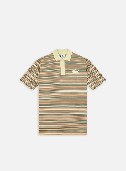 Polo Lacoste Live Silicon Crocodile Striped Polo Shirt
