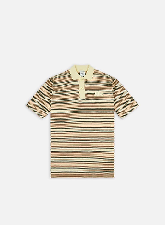 Lacoste Live Silicon Crocodile Striped Polo Shirt