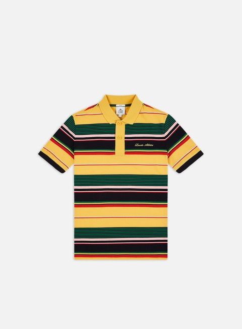 Polo Lacoste Live Striped Ribbed Collar Polo Shirt