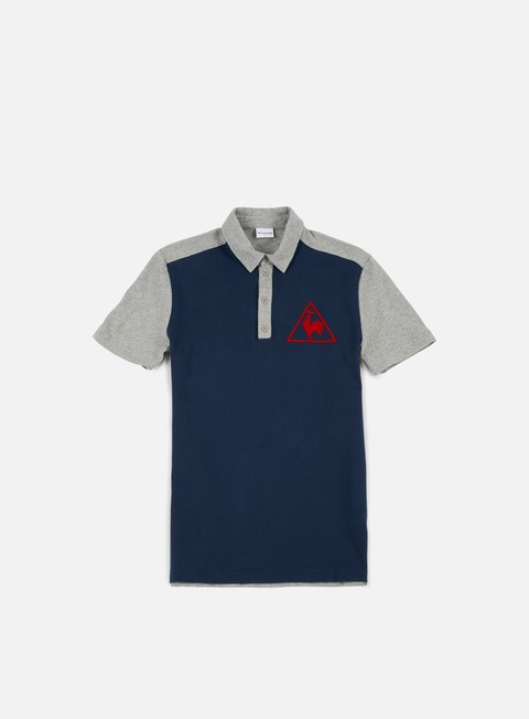 camicie le coq sportif tri lf tennis polo dress blues