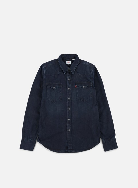 camicie levi s barstow western shirt carbon blackout blue