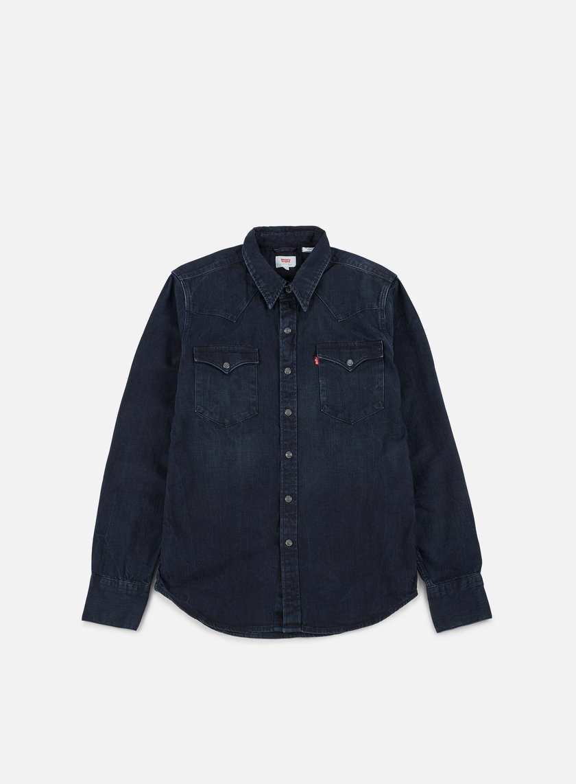 Levi's - Barstow Western Shirt, Carbon Blackout/Blue