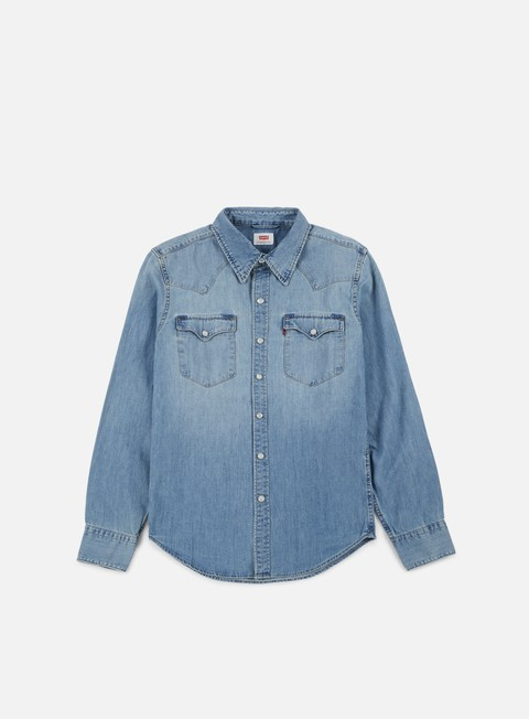 camicie levi s barstow western shirt red cast stone dark indigo