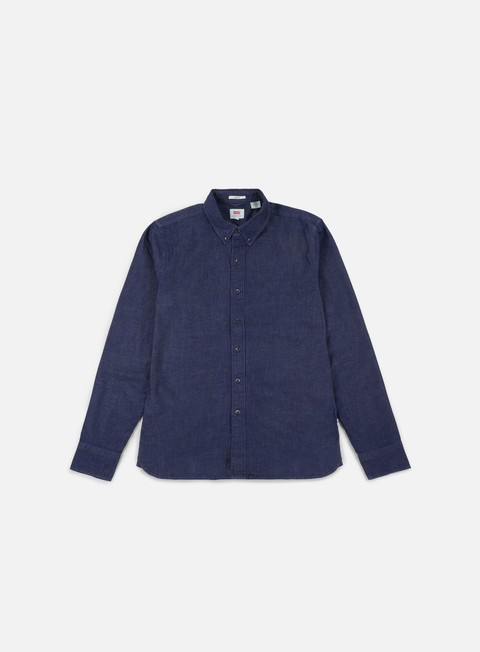 camicie levi s pacific no pocket ls shirt stretch denim