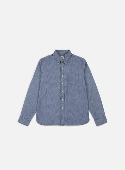 camicie levi s sunset 1 pocket shirt chambray indigo