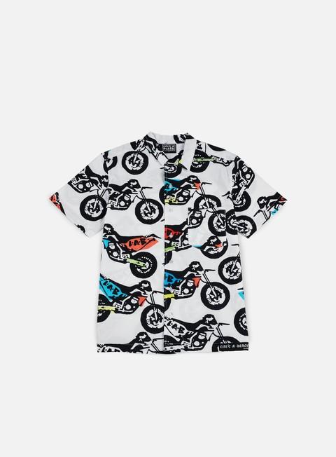 Outlet e Saldi Camicie a Manica Corta Life's a Beach Colour Dirt Bike Hawai Shirt