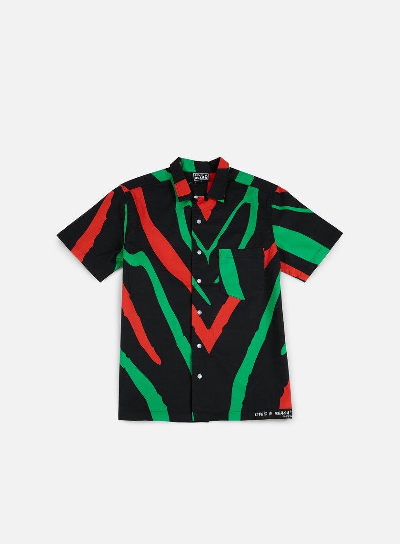 Life's a Beach - Tribe Hawai Shirt, Black/Red