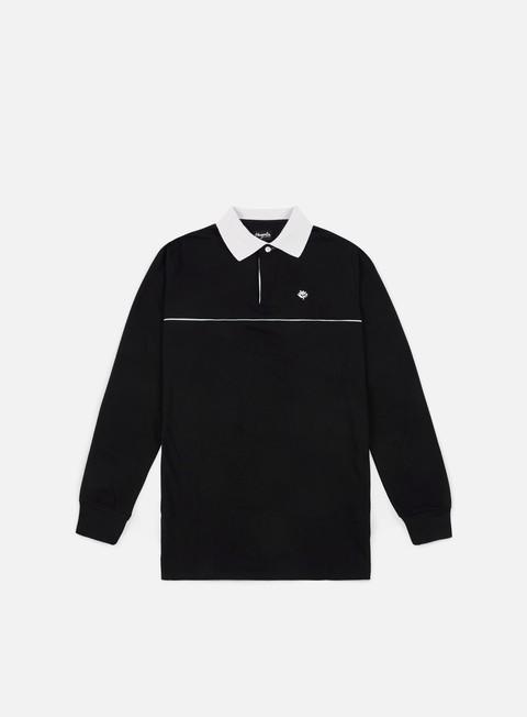 Polo Magenta All Black LS Polo Shirt