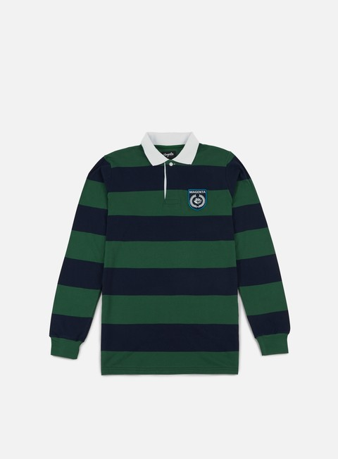 camicie magenta light rugby ls polo shirt navy green