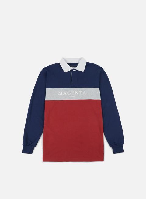 Polo Magenta Paris LS Polo Shirt