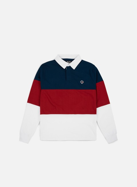 Polo Magenta Tricolor LS Polo Shirt