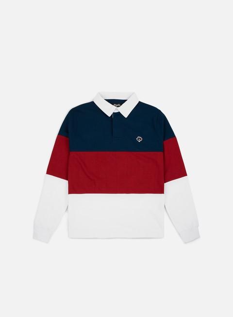 Polo Magenta Tricolor LS Polo Shirt