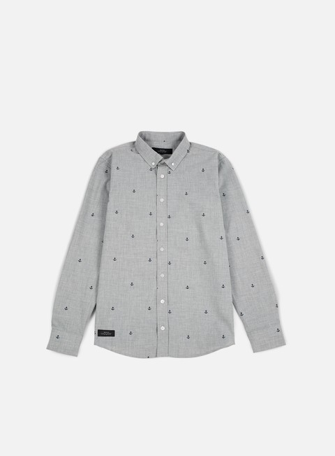 camicie makia anchors shirt grey