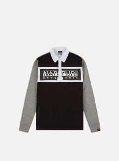 Napapijri - Emei LS Polo, Black/White/Grey Melange