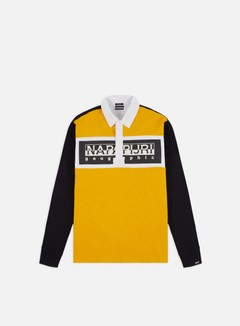Napapijri - Emei LS Polo, Yellow/White/Blue Marine
