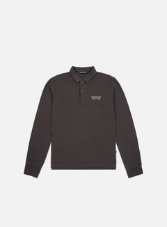 Napapijri - Erthow LS Polo Shirt, Dark Grey Solid