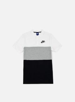 Nike - Matchup Polo Shirt, White/Dark Grey Heather/Black
