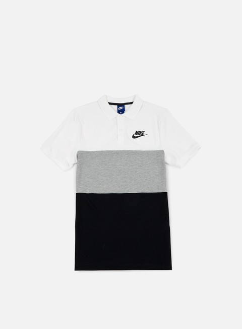 camicie nike matchup polo shirt white dark grey heather black