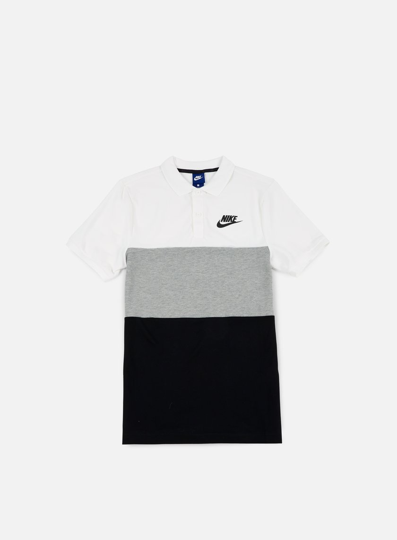 nike matchup polo shirt white dark grey heather black 35 00