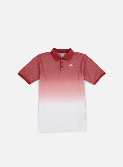 camicie nike sb dry dip dye polo shirt team red white