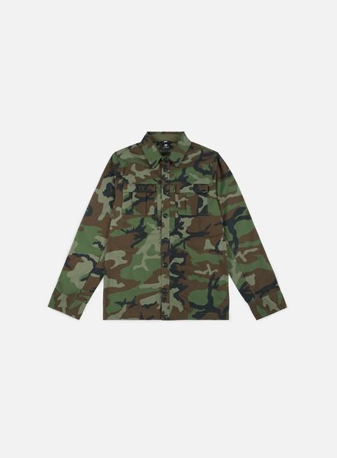camicie nike sb flex holgate shirt medium olive