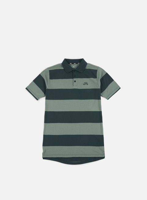 camicie nike sb stripe dri fit polo shirt deep jungle deep jungle