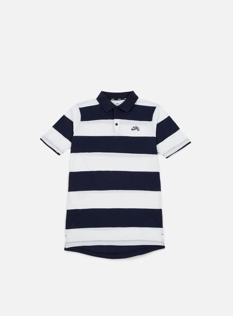 camicie nike sb stripe dri fit polo shirt obsidian obsidian