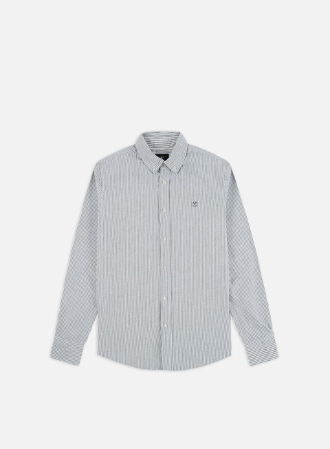 Camicie a Manica Lunga Obey 89 Icon Stripe Woven II LS Shirt
