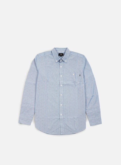 camicie obey arden ls woven shirt blue multi