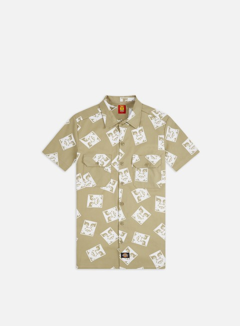 Short Sleeve Shirts Obey Dickies Oby3 SS Shirt