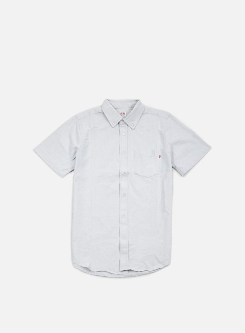 camicie obey dissent trait ss woven shirt light grey