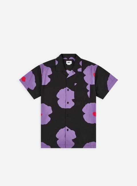 Short Sleeve Shirts Obey Evens Woven SS Shirt