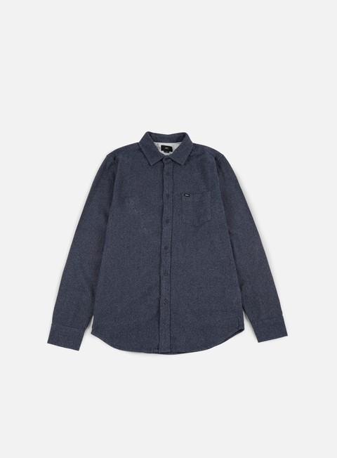 camicie obey harrington woven ls shirt navy