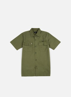 Obey - Mission Military SS Woven Shirt, Light Army 1