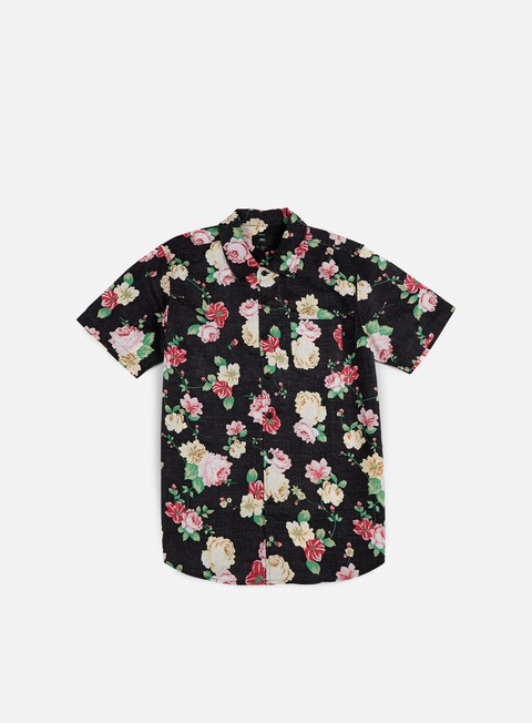 camicie obey moku ss woven shirt black multi