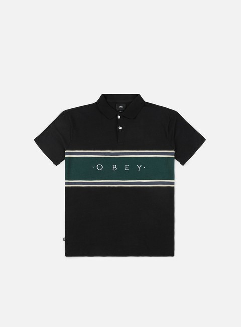 camicie obey palisade polo shirt black