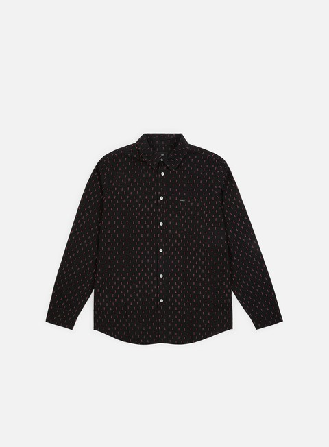 camicie obey screw woven ls shirt black multi