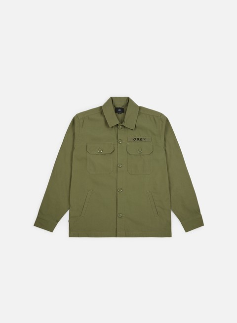 Outlet e Saldi Camicie a Manica Lunga Obey Station Shirt Jacket